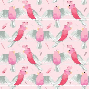 Galahs pink SMALL by Mount Vic and Me