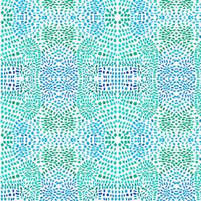 blue green kaleidoscope