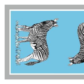 Plains zebra tea towel