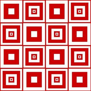 Abigail Anne: Candy Cane Stripe - Squares