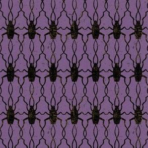 Halloween Creepy Cockroaches in Purple