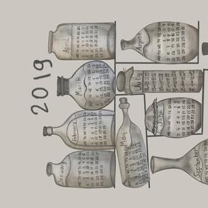 bottle calendar2019