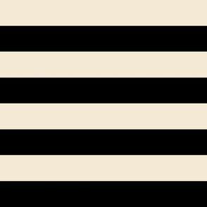 Black and Cappuccino Stripes 1 inch