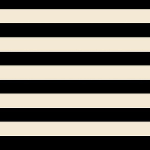 tan black stripe (.75 inch) | cappuccino cream nautical stripe