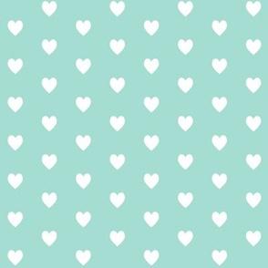 Tiny White Hearts (mint) – Baby Girl Nursery