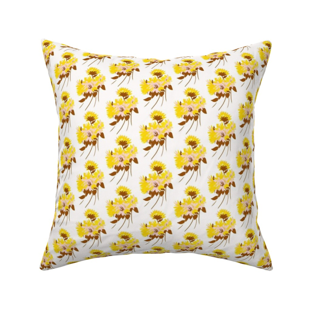 Catalan Throw Pillow featuring sunflower bouquets by alison_janssen