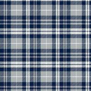 (small scale) fall plaid || navy, grey, white