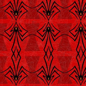 Black Widow Spiders on Red