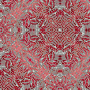 Pavane Red-Grey 24 wide