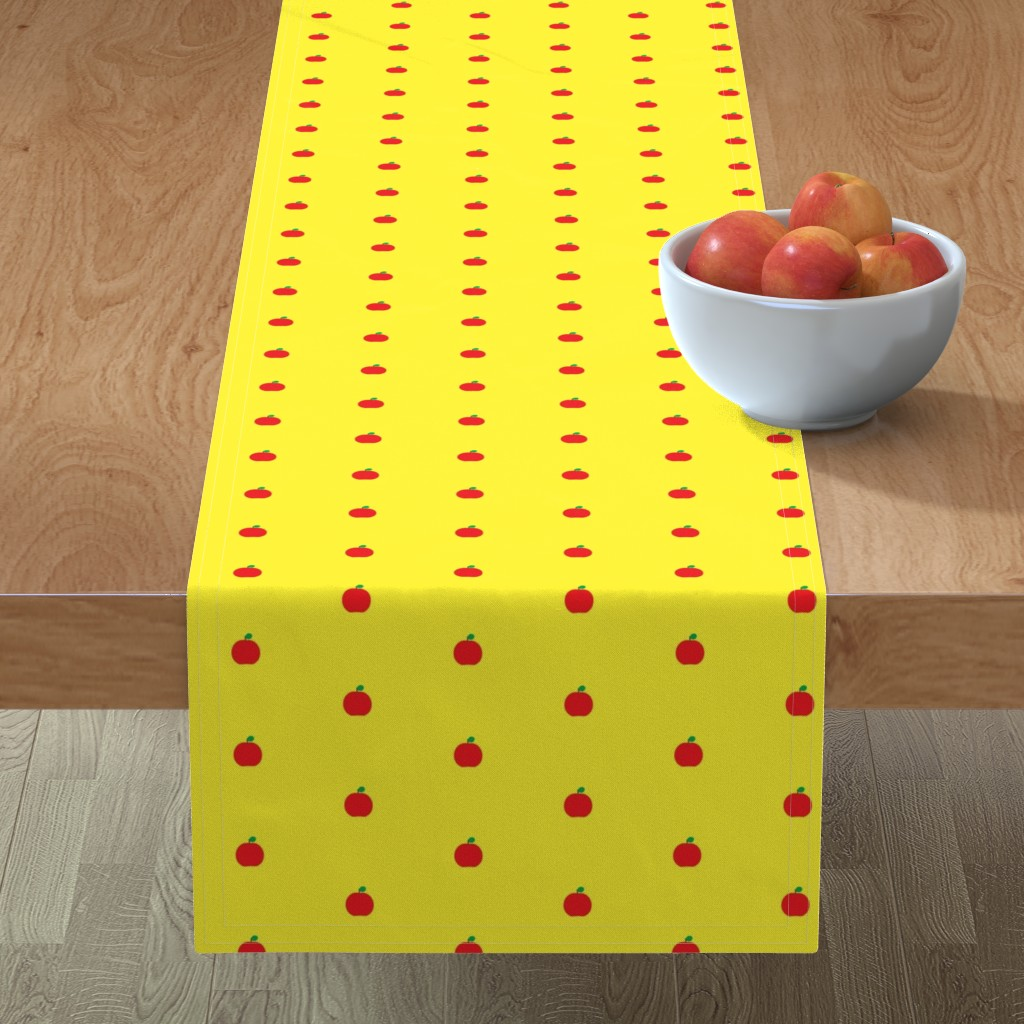 Minorca Table Runner featuring Fantastic Mrs. Faux by dolphinandcondor