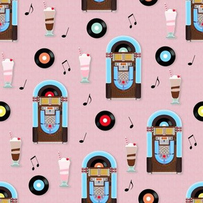 Dance to the Music 1950s Jukebox and Ice Cream Sodas