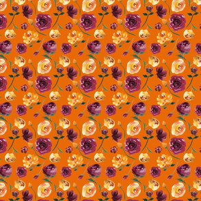 "Mustard and Purple Repeat on Orange 4x5.5"""