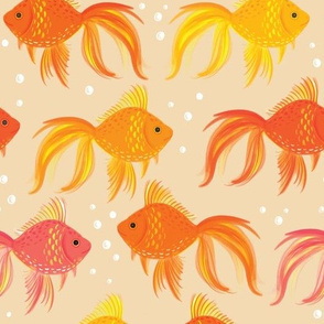 Goldfish (peach background)