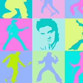Elvis Presley in 50's Colors