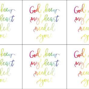 6 loveys: god knew my heart needed you rainbow baby