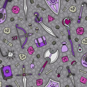 RPG Quest Large in Silver & Purple
