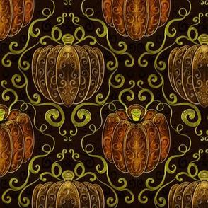 fancy pumpkin damask