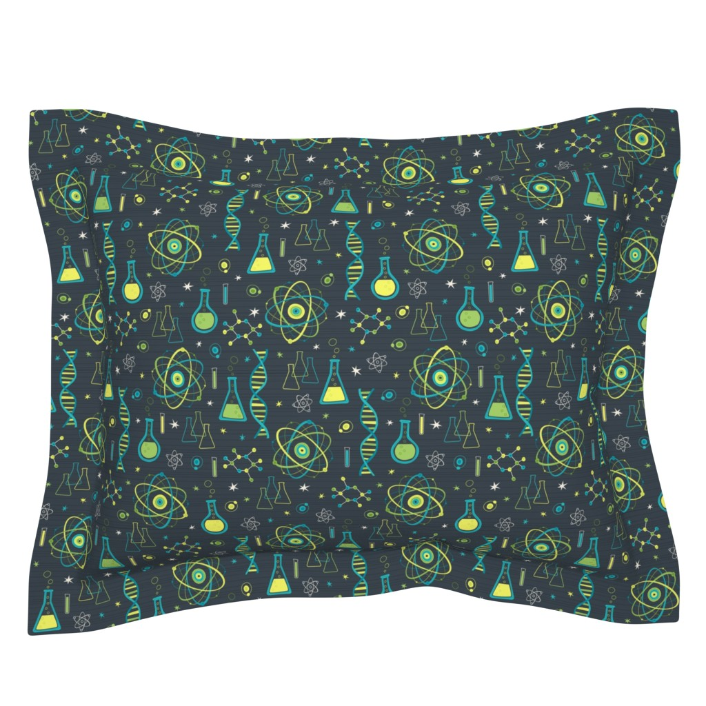 Sebright Pillow Sham featuring Midcentury Modern Science by robyriker