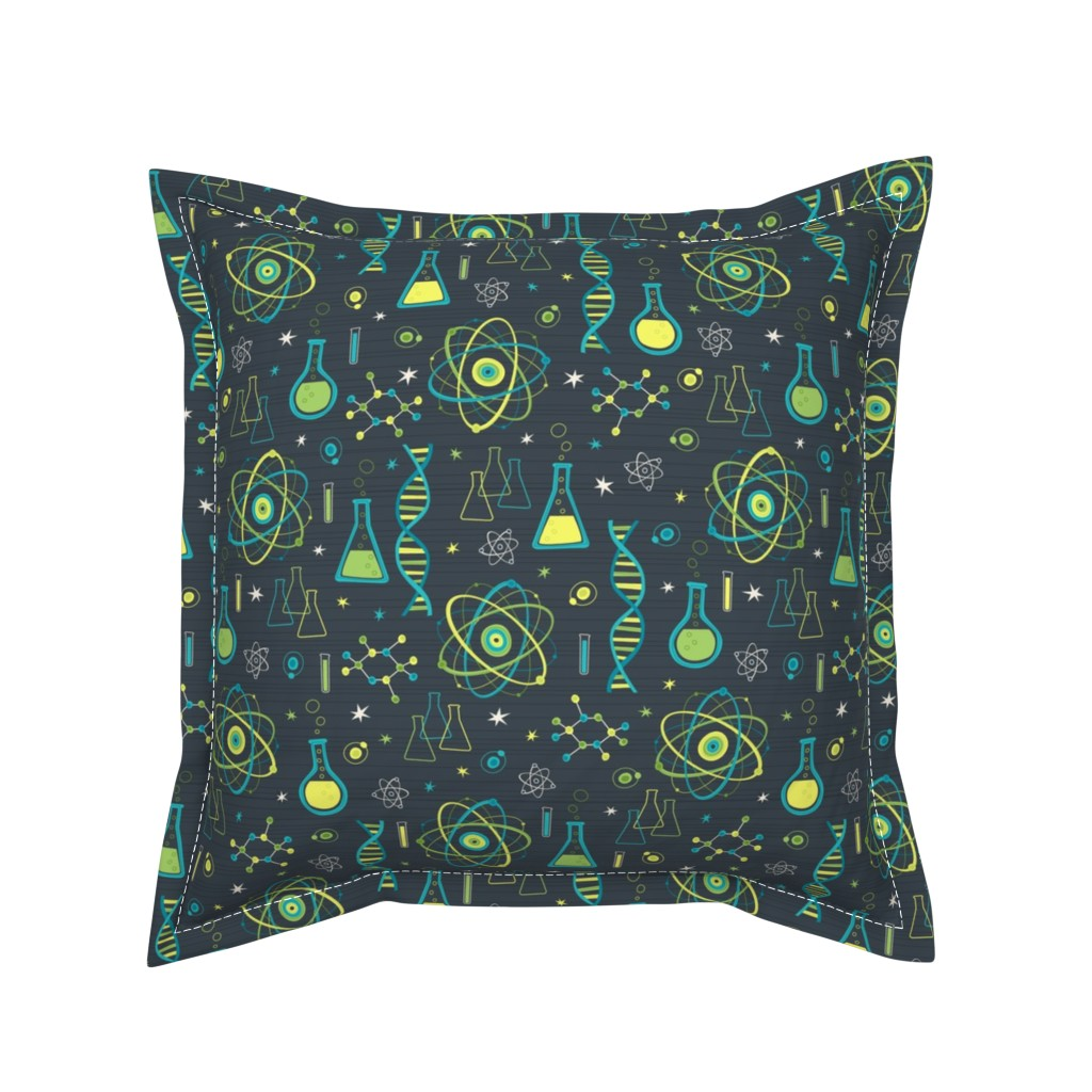 Serama Throw Pillow featuring Midcentury Modern Science by robyriker