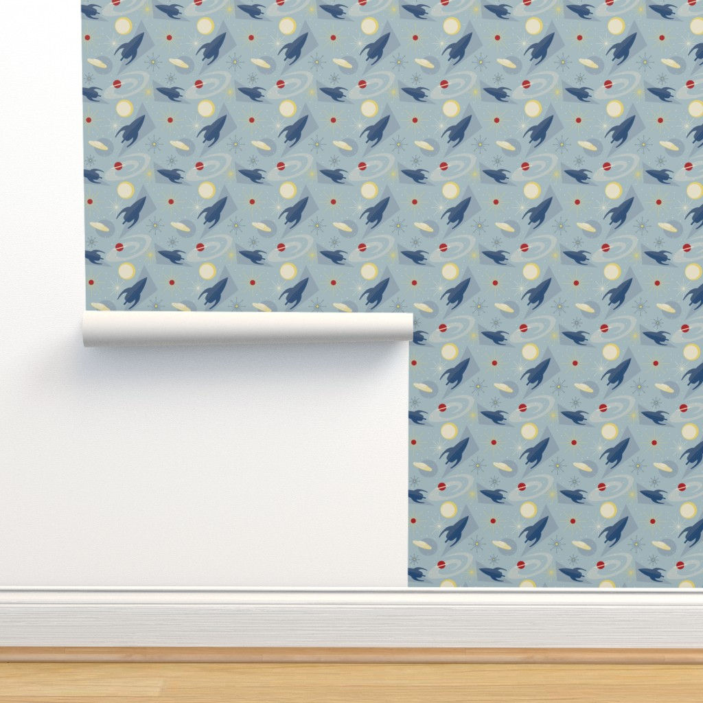 Isobar Durable Wallpaper featuring 1950s Space Race 1 by heather_hughes