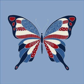 patriotic butterfly pillow