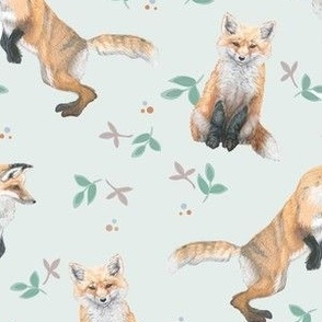 Woodland Fox In Pink