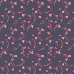 Mystic Co-ordinate - Floral - Purple