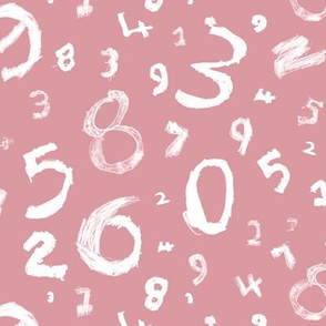 Numbers-pink and white