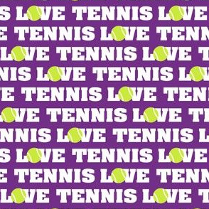 Love Tennis on Purple