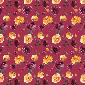 "Mustard and Purple Repeat on Wine 6x8.3"""