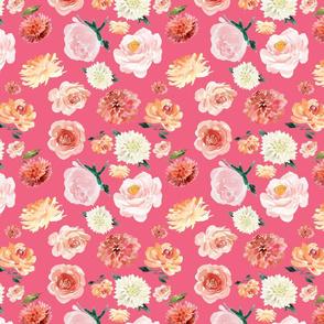 """Pinks White Pattern Hot Pink 8"""""""