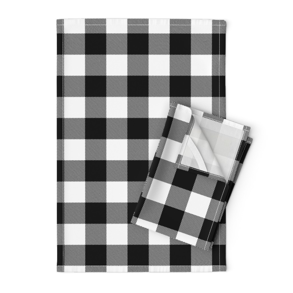 """Orpington Tea Towels featuring 2"""" Buffalo Plaid with Twill Pattern 