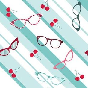 retro glasses & cherries