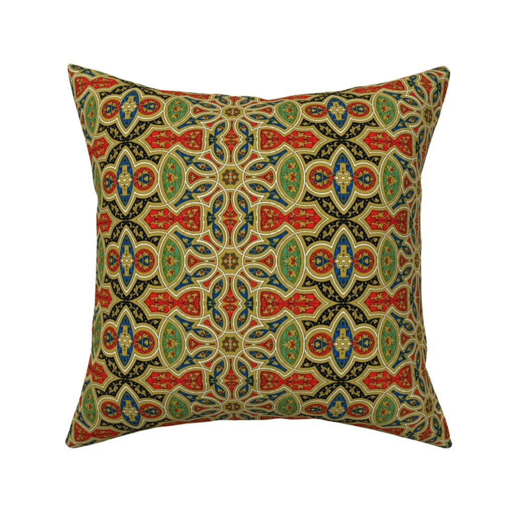 Catalan Throw Pillow featuring arabesque 138 by hypersphere
