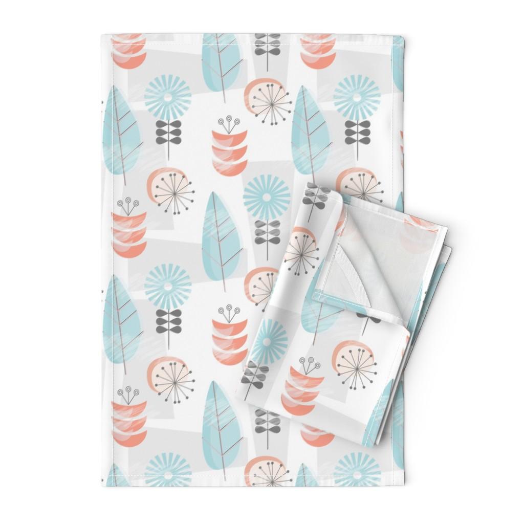 Orpington Tea Towels featuring 1950's Garden by mirimo_design