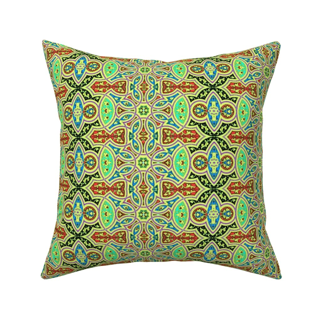 Catalan Throw Pillow featuring arabesque 140 by hypersphere
