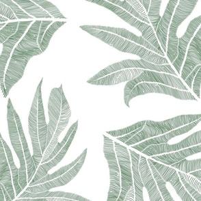 'Ulu Nui Holidays Green on White 150