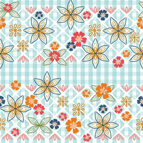 Gingham Embroidery and Applique, Autumn Colors