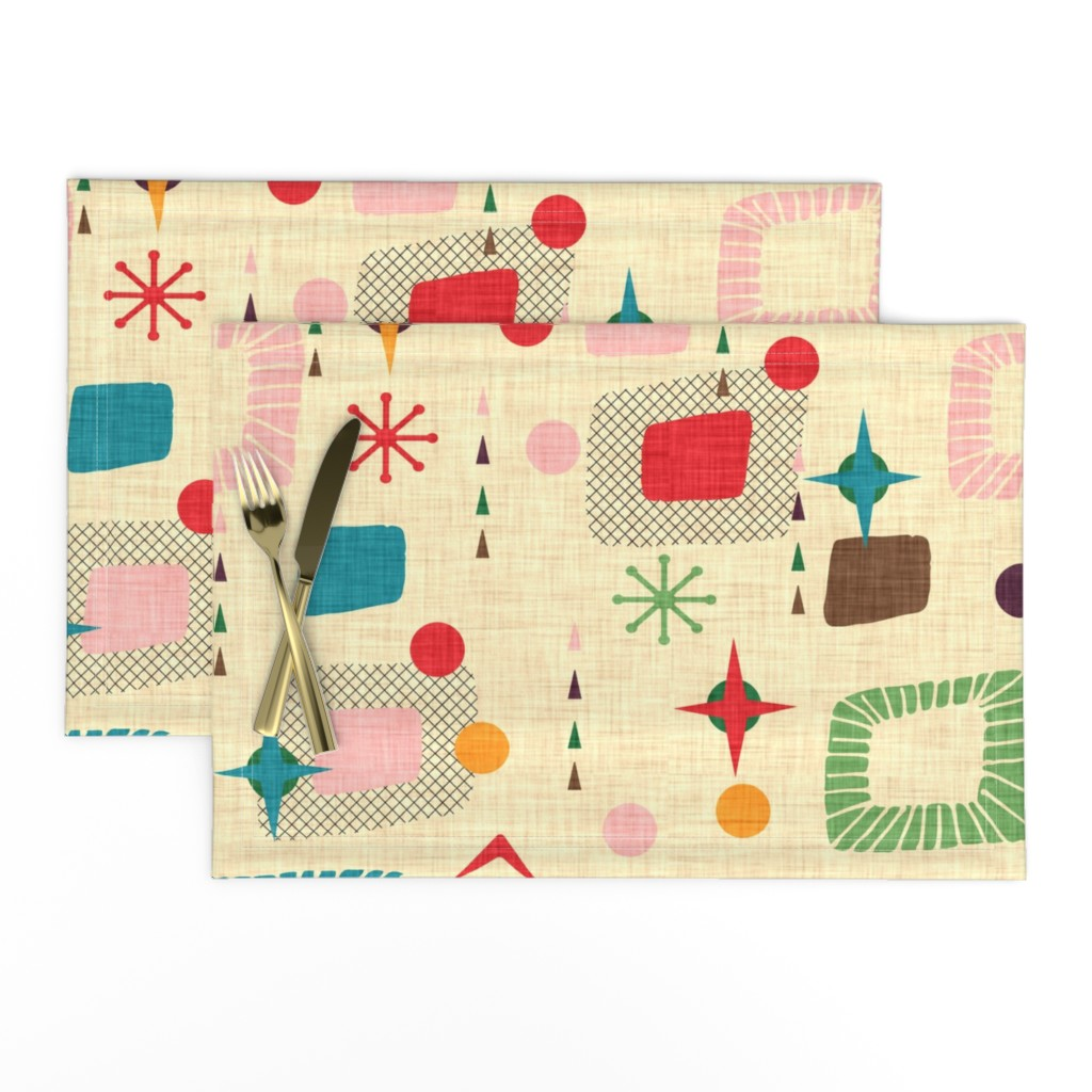 Lamona Cloth Placemats featuring 1950s atomic pattern by bruxamagica