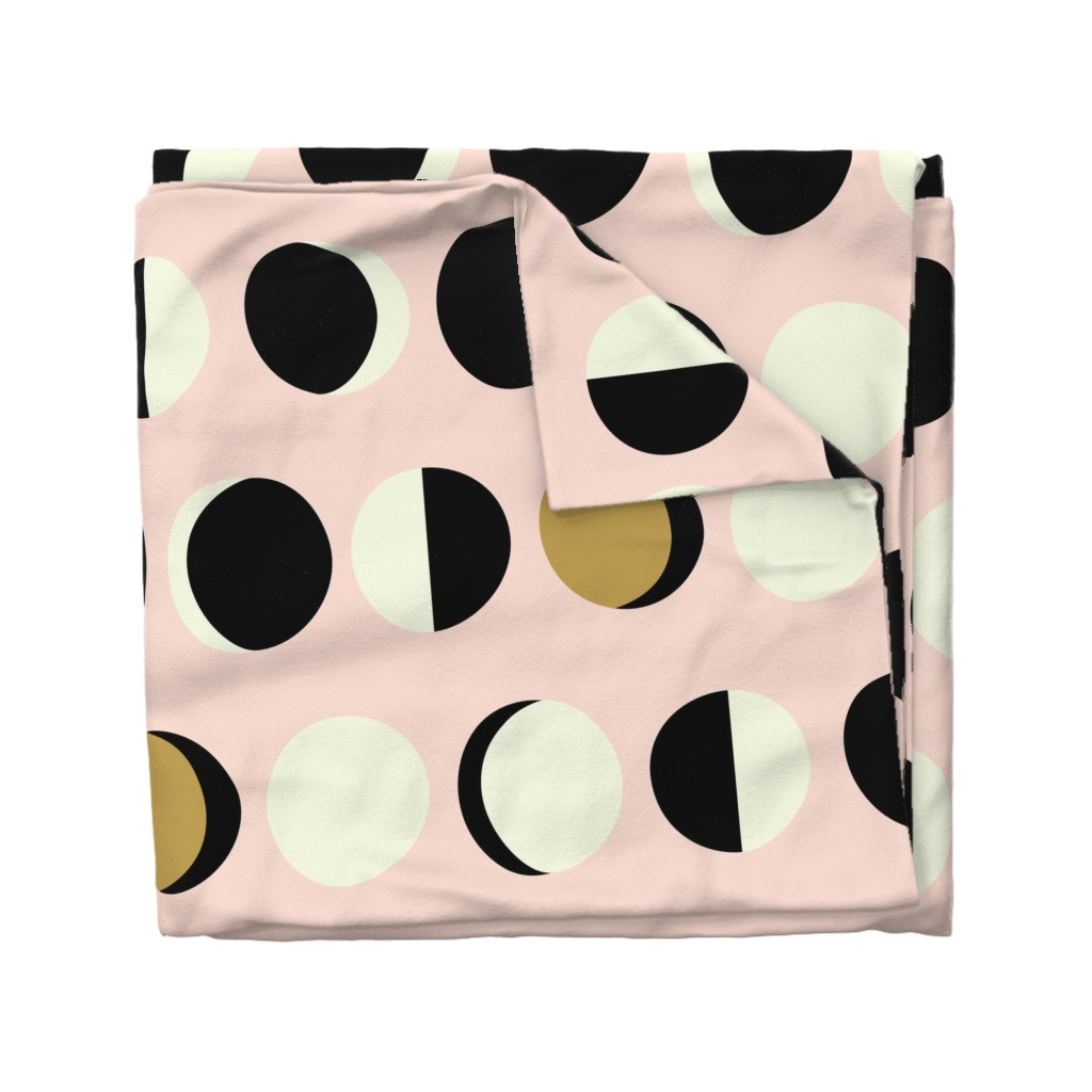 Wyandotte Duvet Cover featuring Mod Moons Blush Large Scale by nadiahassan