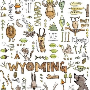 Wild in Wyoming - white