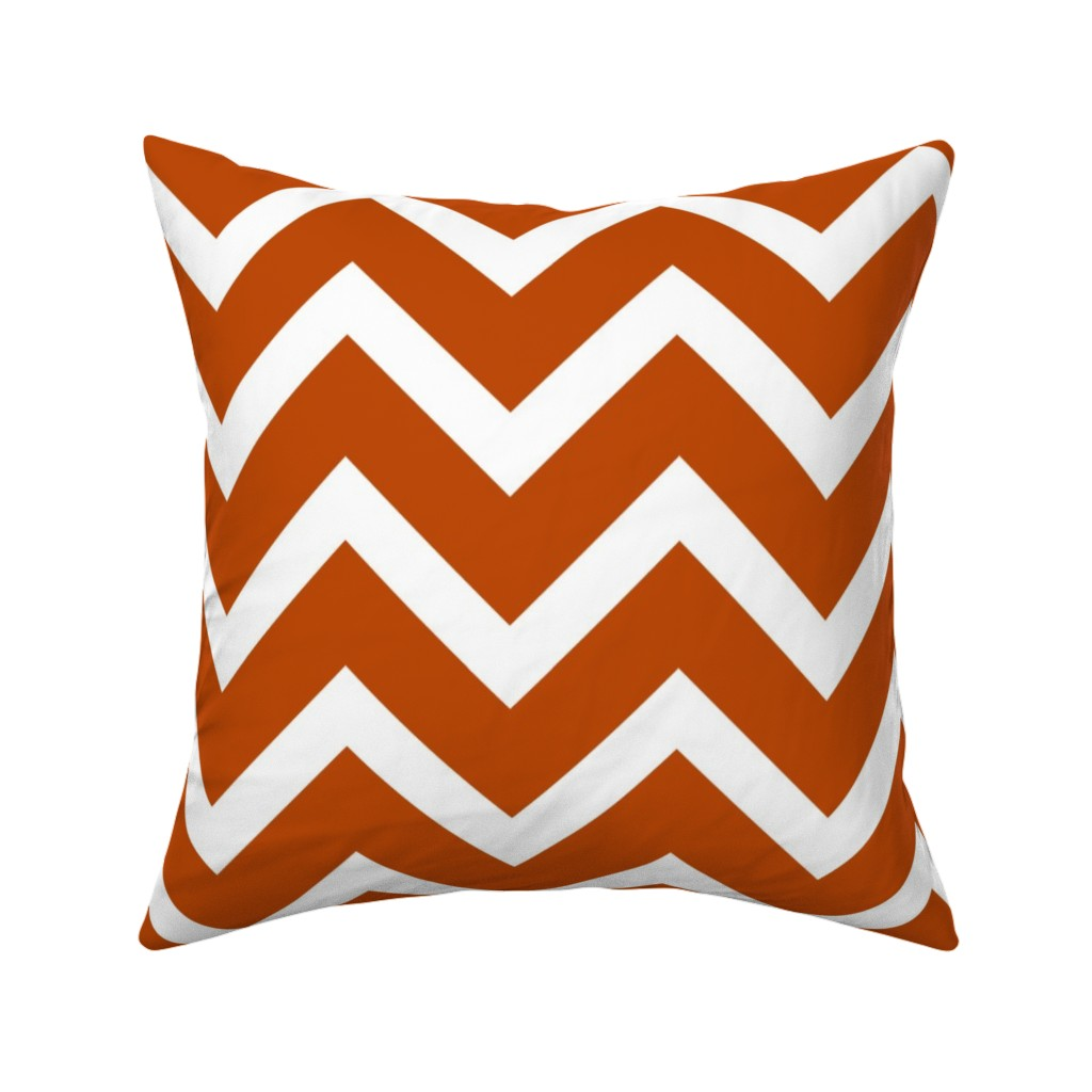 Catalan Throw Pillow featuring orange chevron large scale by amybethunephotography