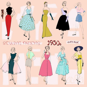 Sewing Patterns of the 1950s