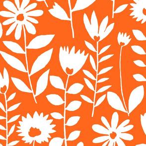 cutout flower (white on orange)