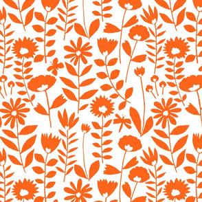 cutout flower small scale (orange on white)