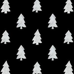 Christmas Pines in Black