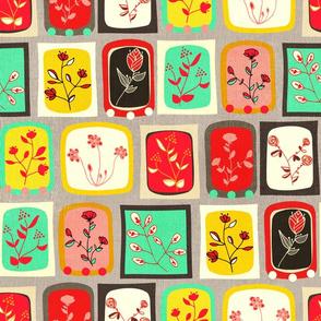 Fabulous Framed 50's Floral - Big