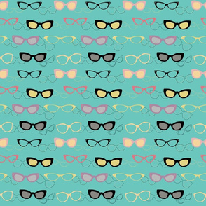 1950s Specs on Holiday Turquoise