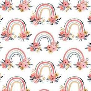 Watercolor Floral Rainbows - Small