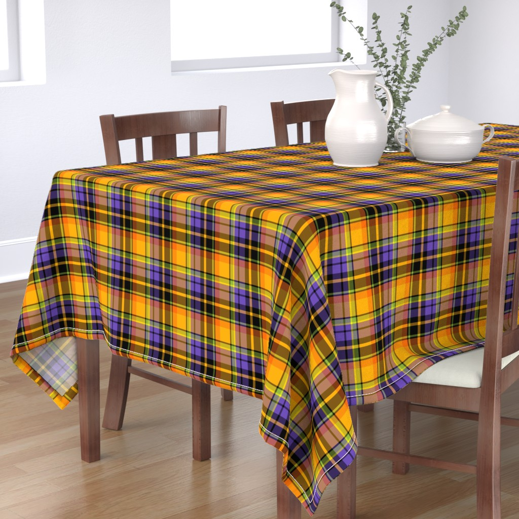 Bantam Rectangular Tablecloth featuring halloween plaid by ghouk